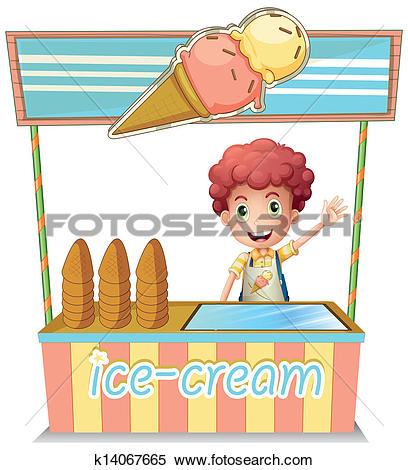 Clip Art of Frozen Drinks Stand k7786139.