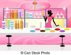 Ice cream shop Clip Art and Stock Illustrations. 3,272 Ice cream.