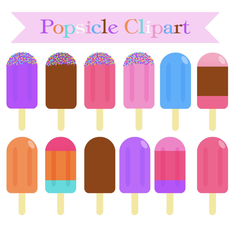 Ice Cream Popsicle Clipart