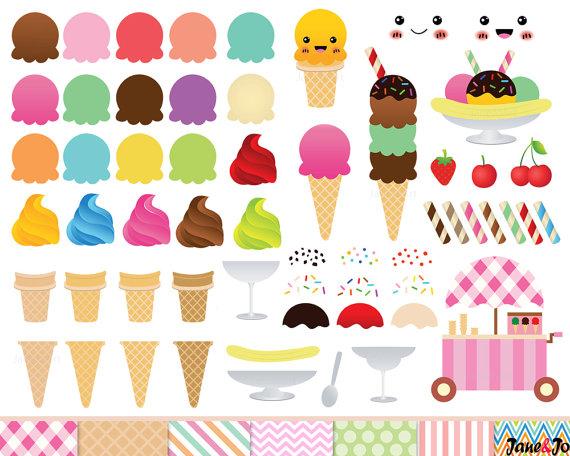 68 Ice Cream Clipart, Ice cream cone Clip art , ice cream graphics.