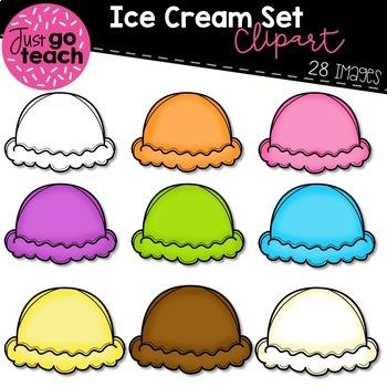 Ice Cream Scoops {Clipart}.