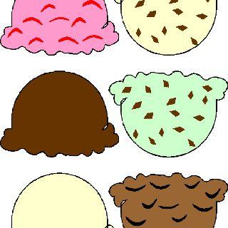 Ice cream scoop printable.
