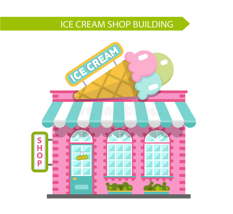 Ice Cream Shop Stock Illustrations.
