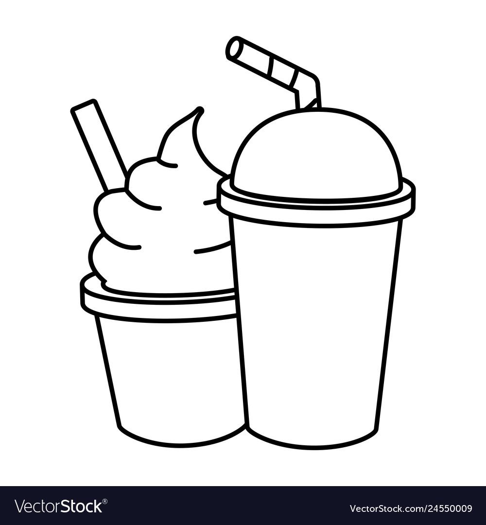 Ice cream soda food.