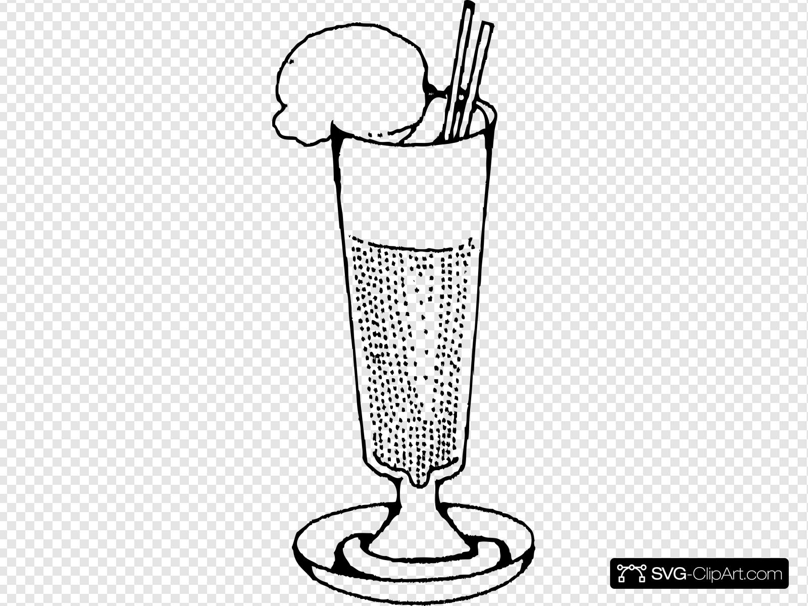 Ice Cream Soda Clip art, Icon and SVG.