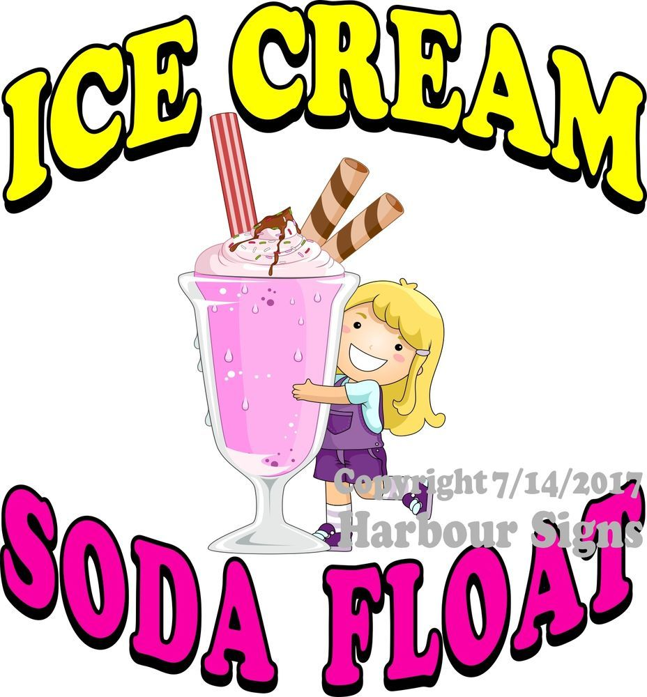 Details about Ice Cream Soda Float DECAL (CHOOSE YOUR SIZE.