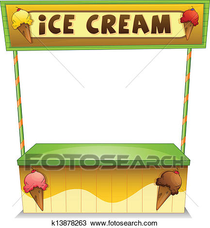 An ice cream stand Clipart.