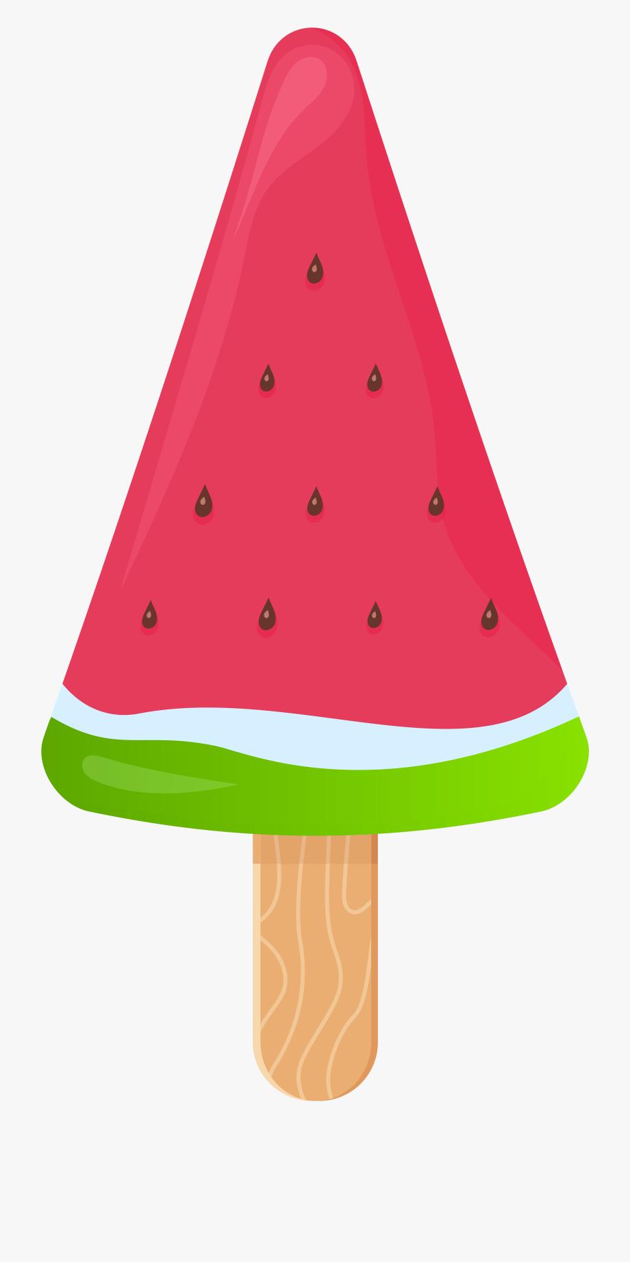 Watermelon Ice Cream Stick Png Clip Art.