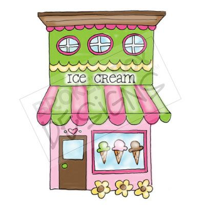 Icecream Shop Clipart.