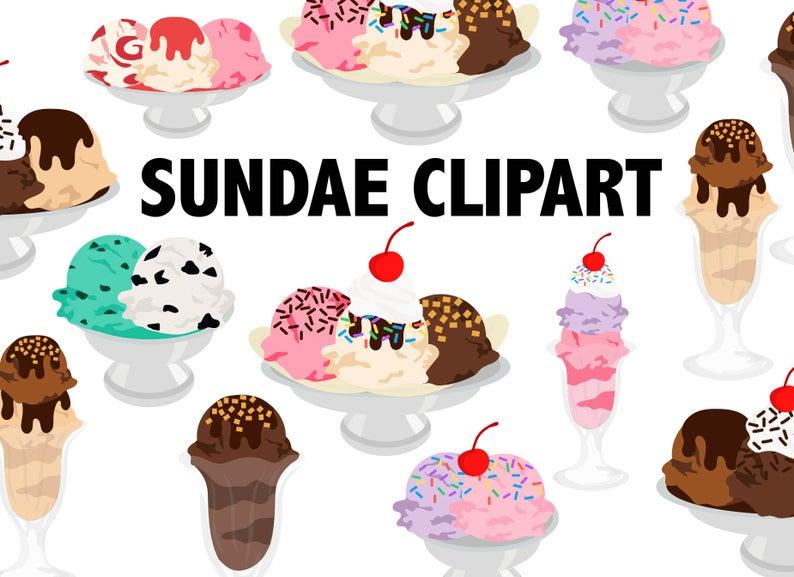 ICE CREAM SUNDAE Clipart.