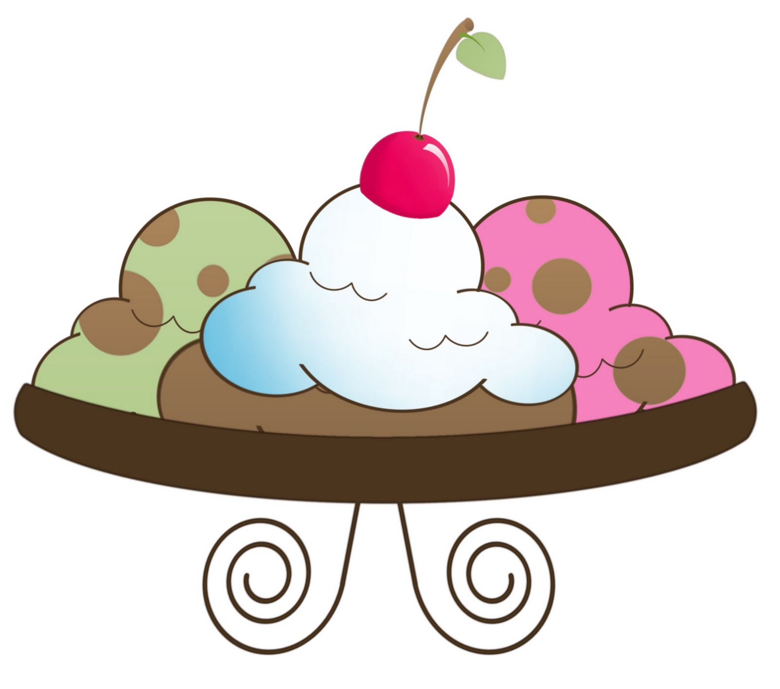 Free Clip Art Ice Cream Sundae.