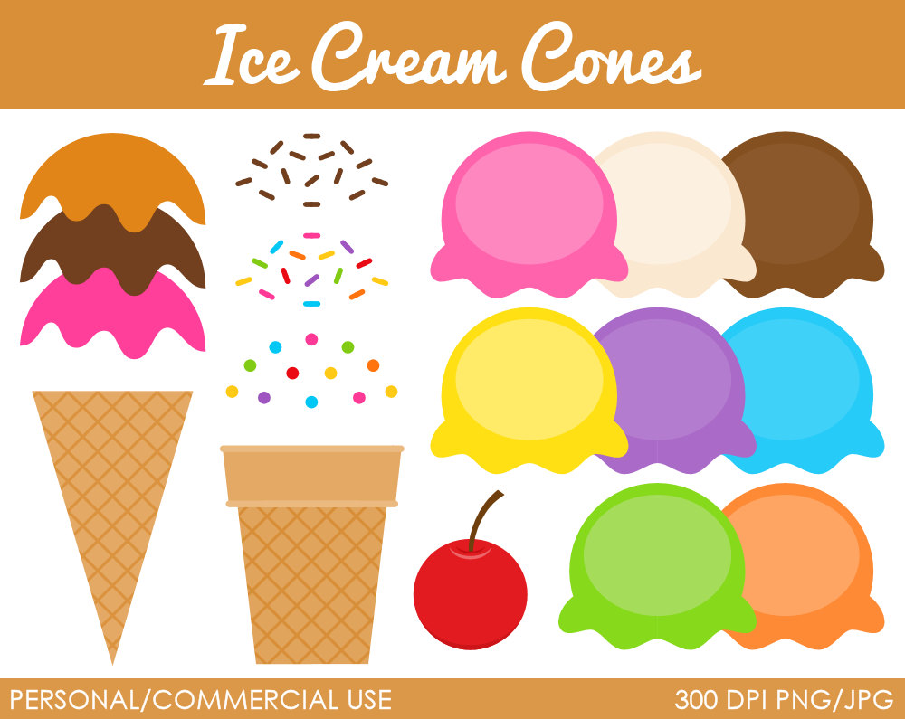 Ice Cream Scoop With Sprinkles Clipart.