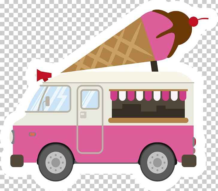 Ice Cream Car Pink PNG, Clipart, Cars, Color, Commercial Vehicle.