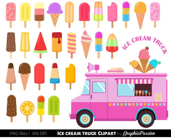 Ice cream Clipart Ice cream Clipart Sweet Treat Bakery clip art Dessert Ice  cream Truck cilpart.