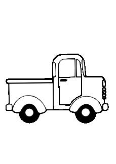Ice Cream Truck Clip Art Black And White.