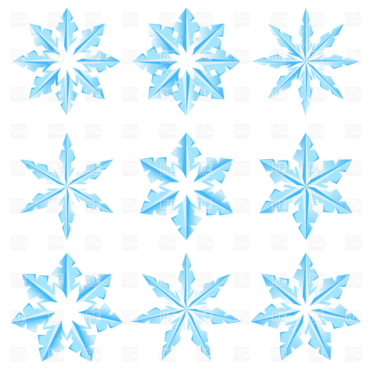 Ice Crystals Clipart.