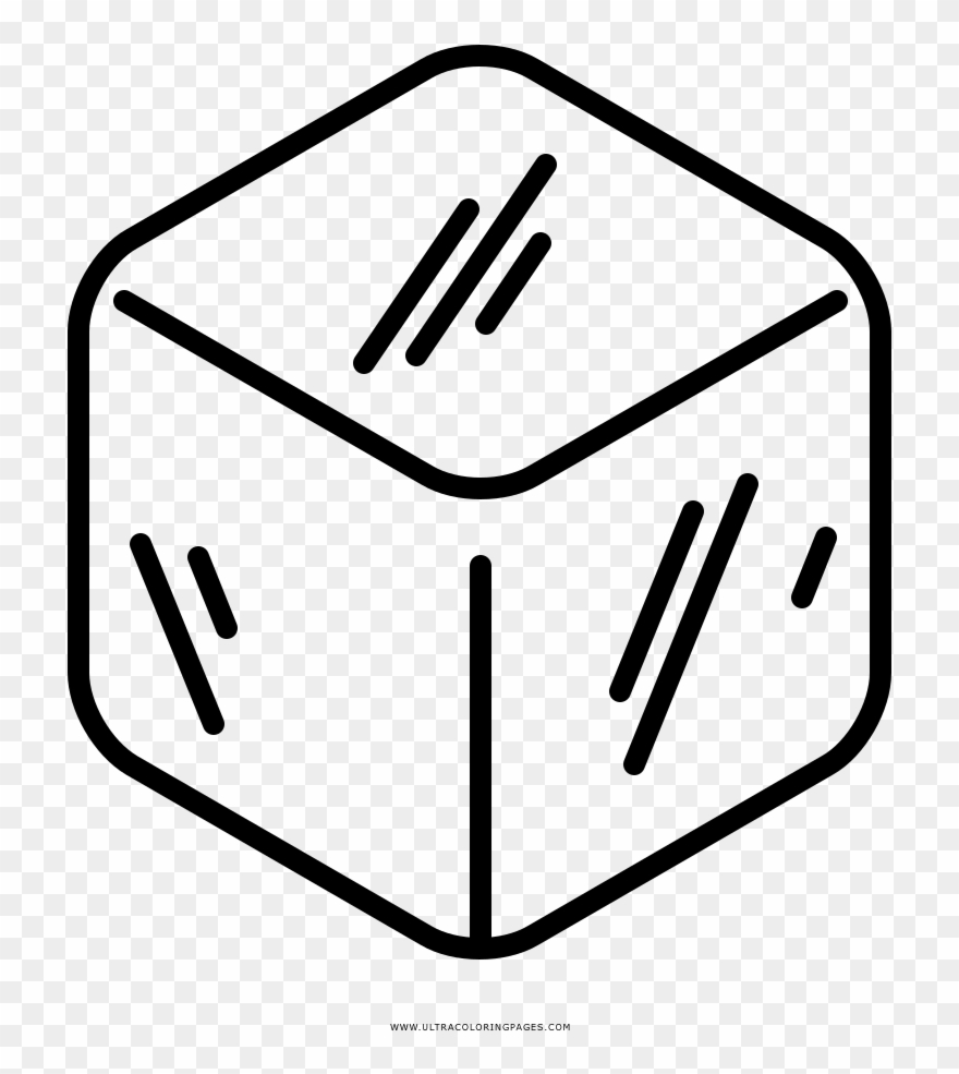 Ice Cube Coloring Page Clipart (#2839168).