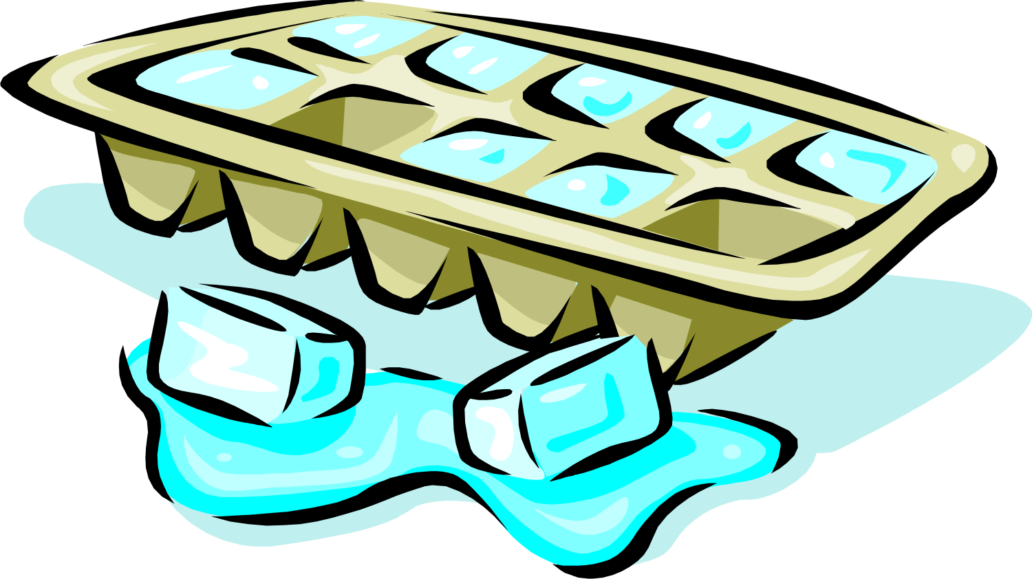 Ice Cube Clipart drawing free image.