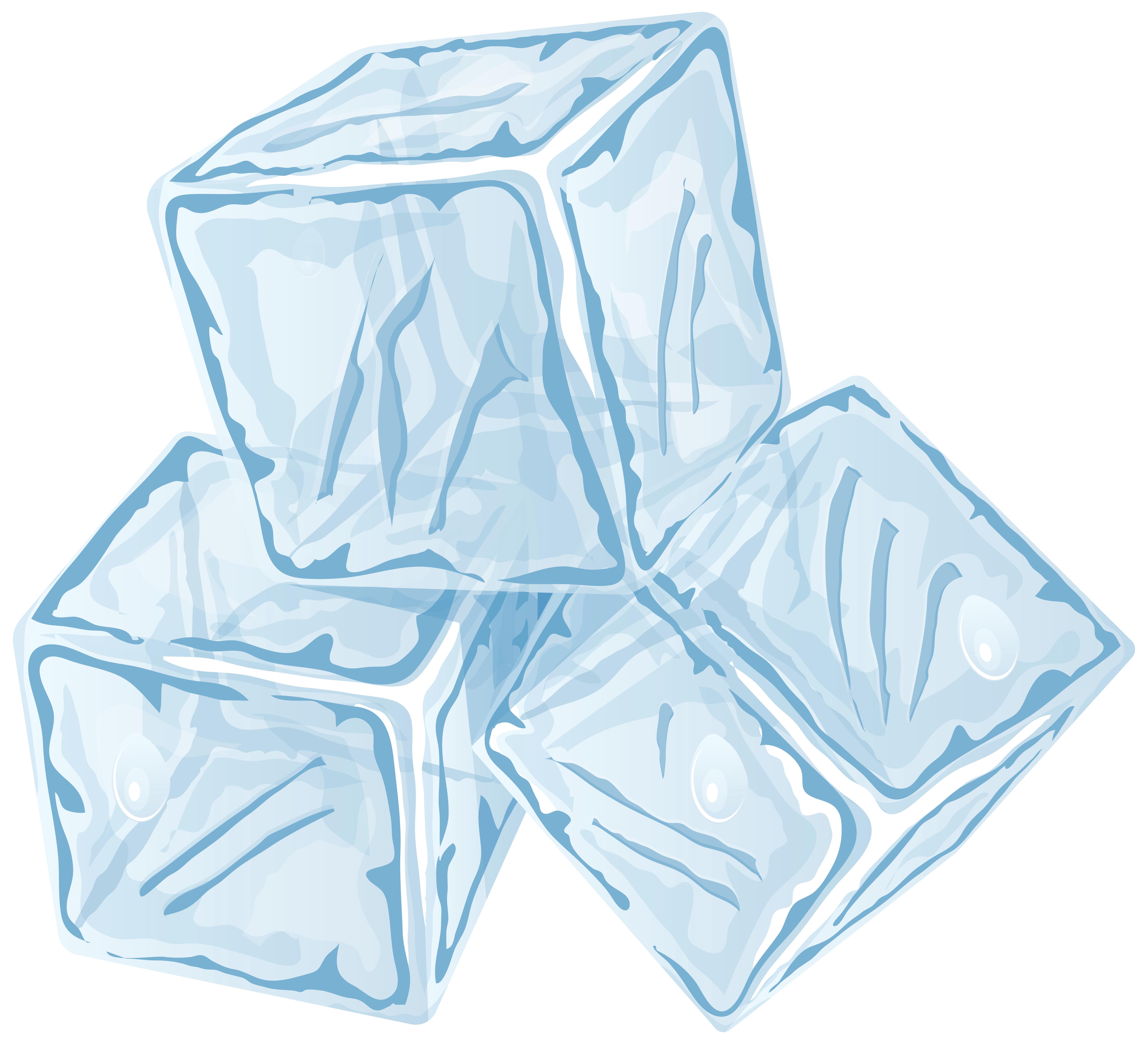 Ice Cubes PNG Clip Art.