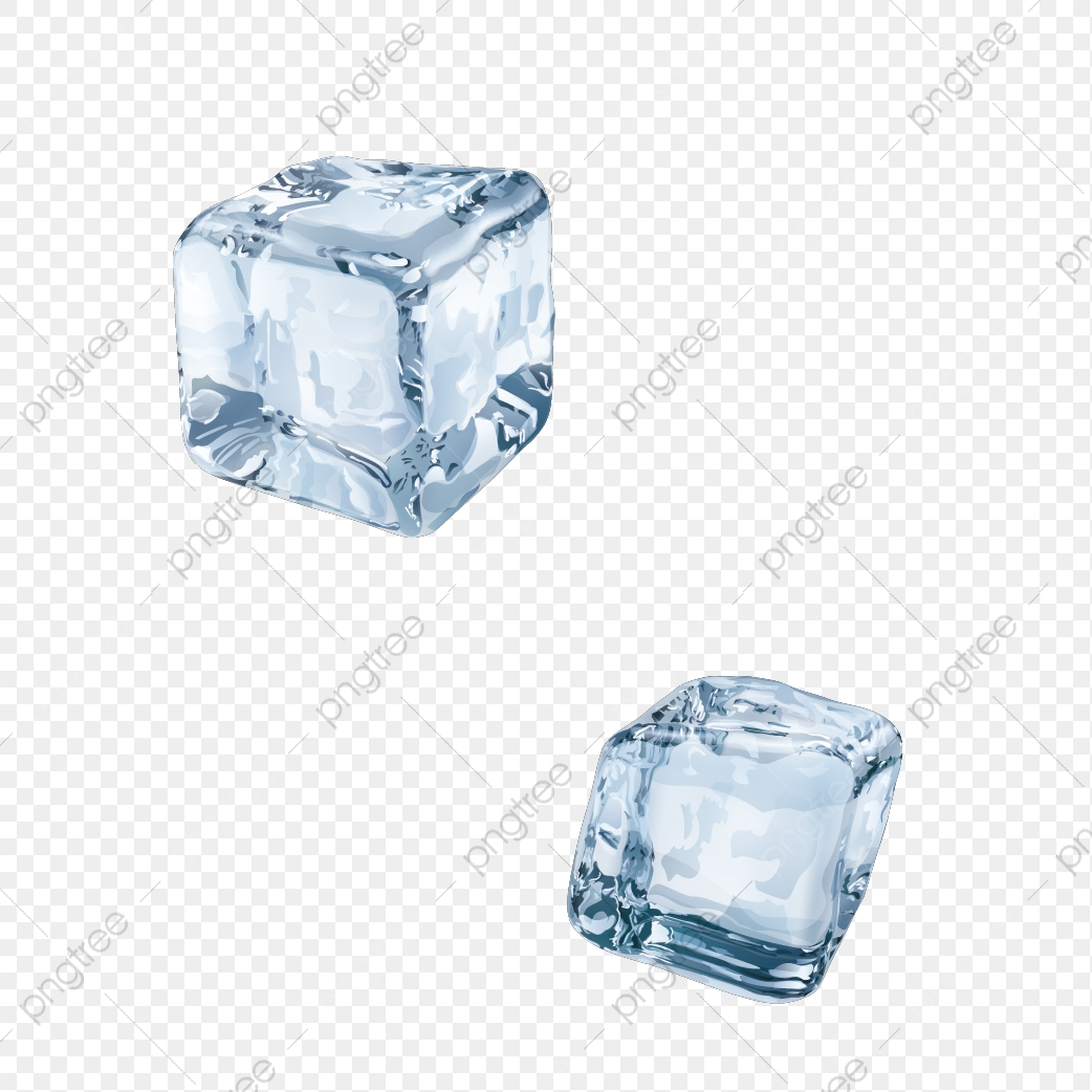 Two Ice Cubes, Ice, Transparent, Blue PNG and Vector with.
