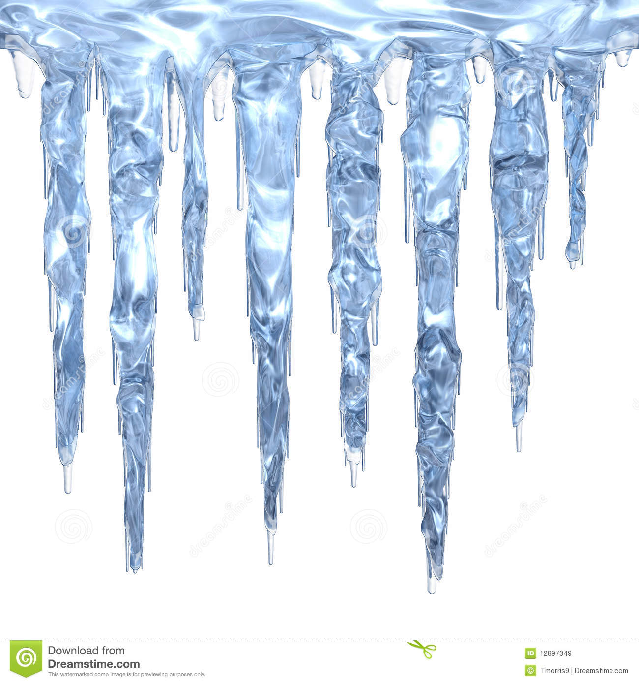 Ice icicles clipart.