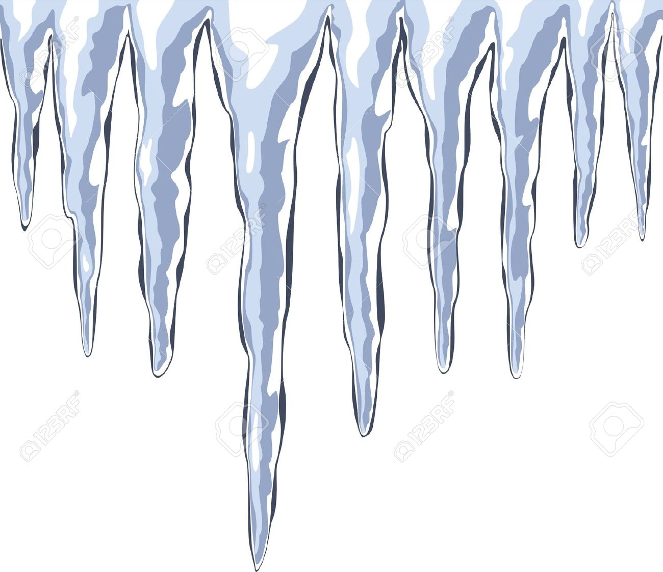 Ice cycles clipart.
