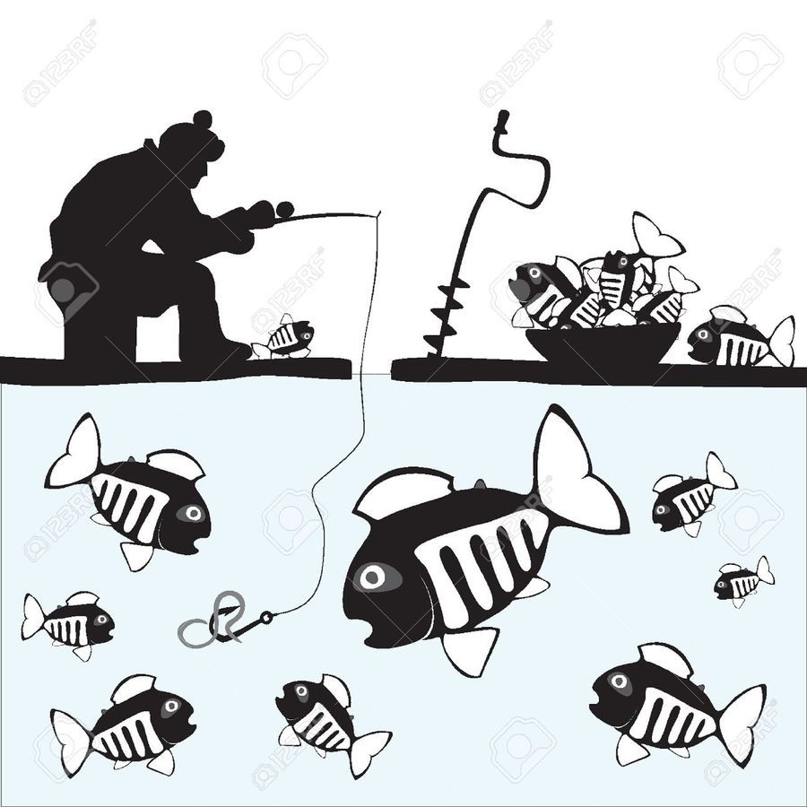 Download ice fishing line art clipart Ice fishing Clip art.