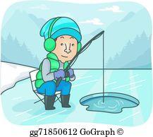 Ice Fishing Clip Art.