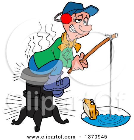 Ice fishing clipart - ...