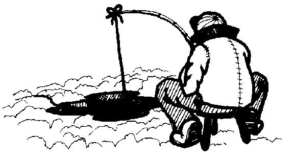 Ice Fishing Clipart.