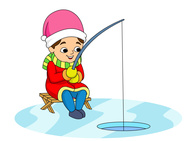 Ice fishing clipart - ...