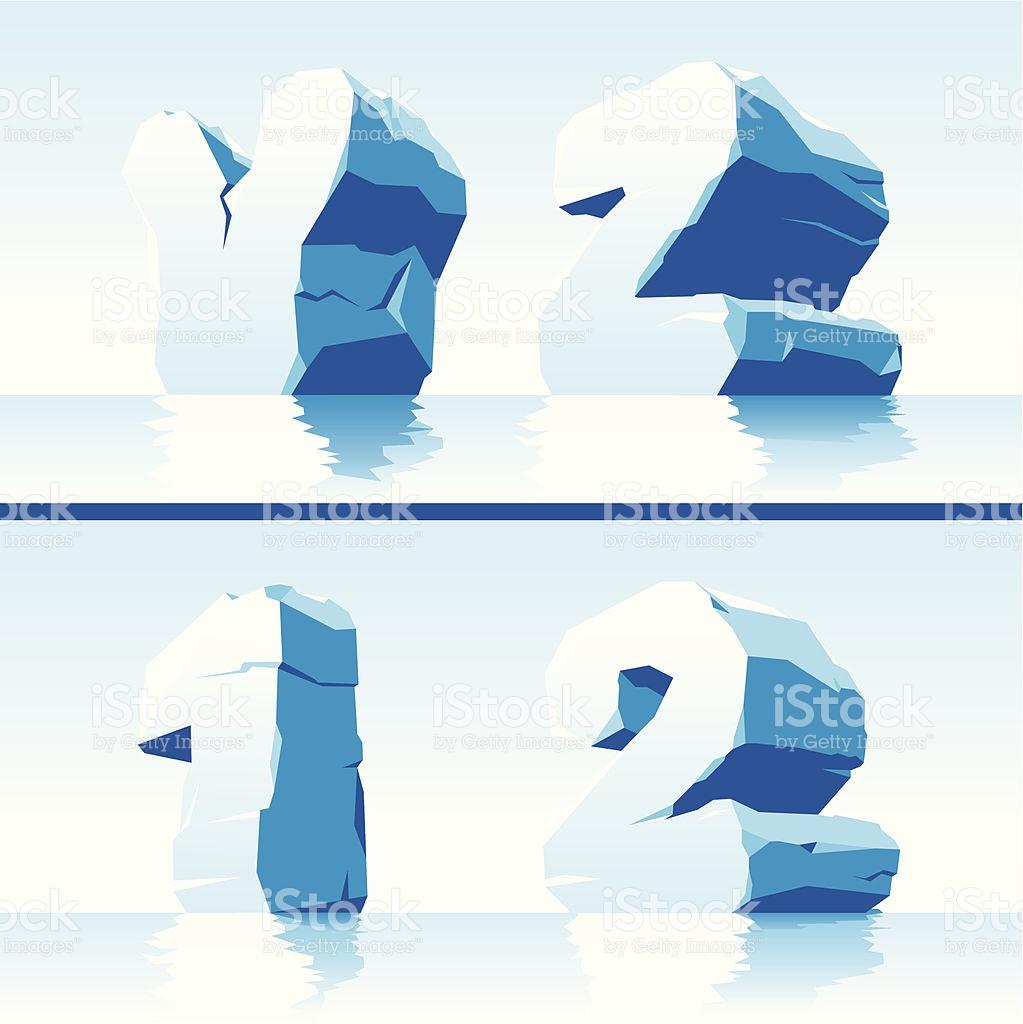 Ice Alphabet Part 7 stock vector art 158001346.
