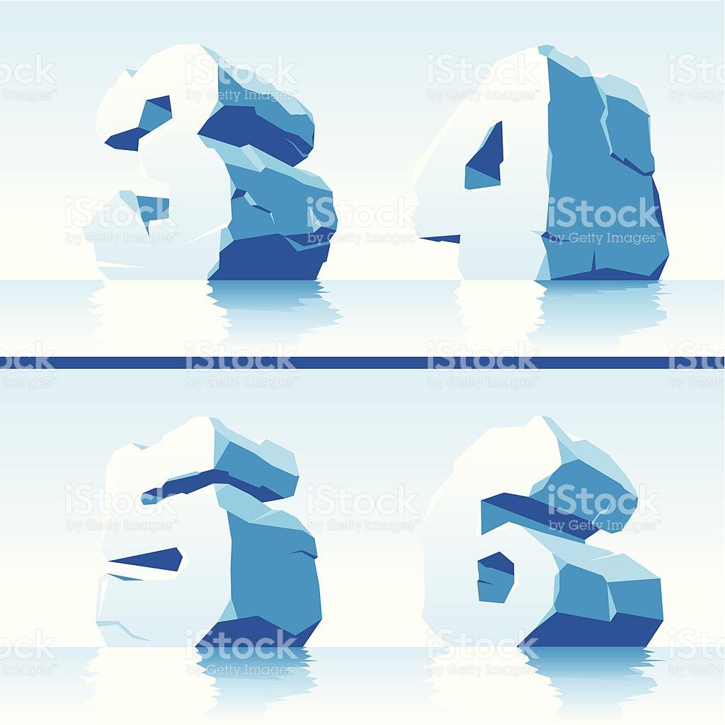 Ice Numbers Part 2 stock vector art 158003909.