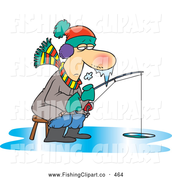 Ice Fisherman Clipart.