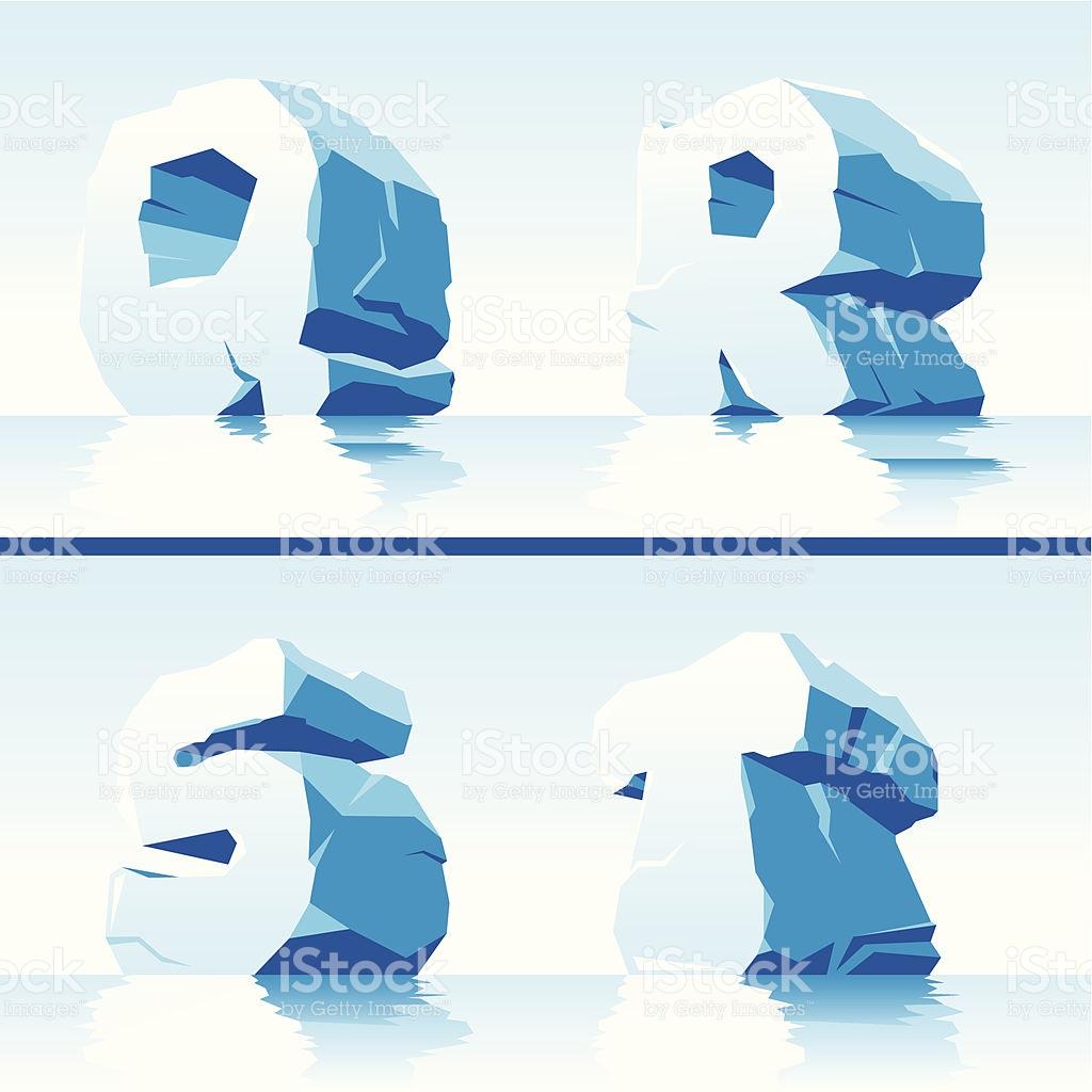 Ice Alphabet Part 5 stock vector art 157178010.