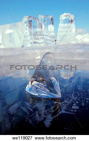 Picture of Ice formation, Olkhon island, Lake Baikal, Siberia.