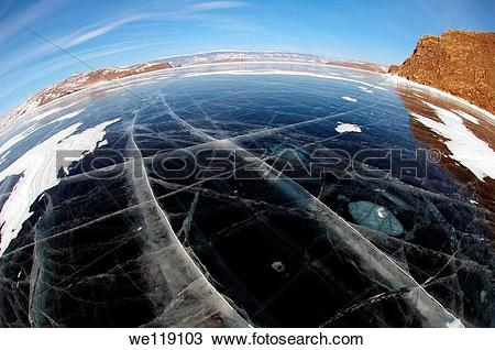 Stock Photo of Ice formation, Olkhon island, Lake Baikal, Siberia.
