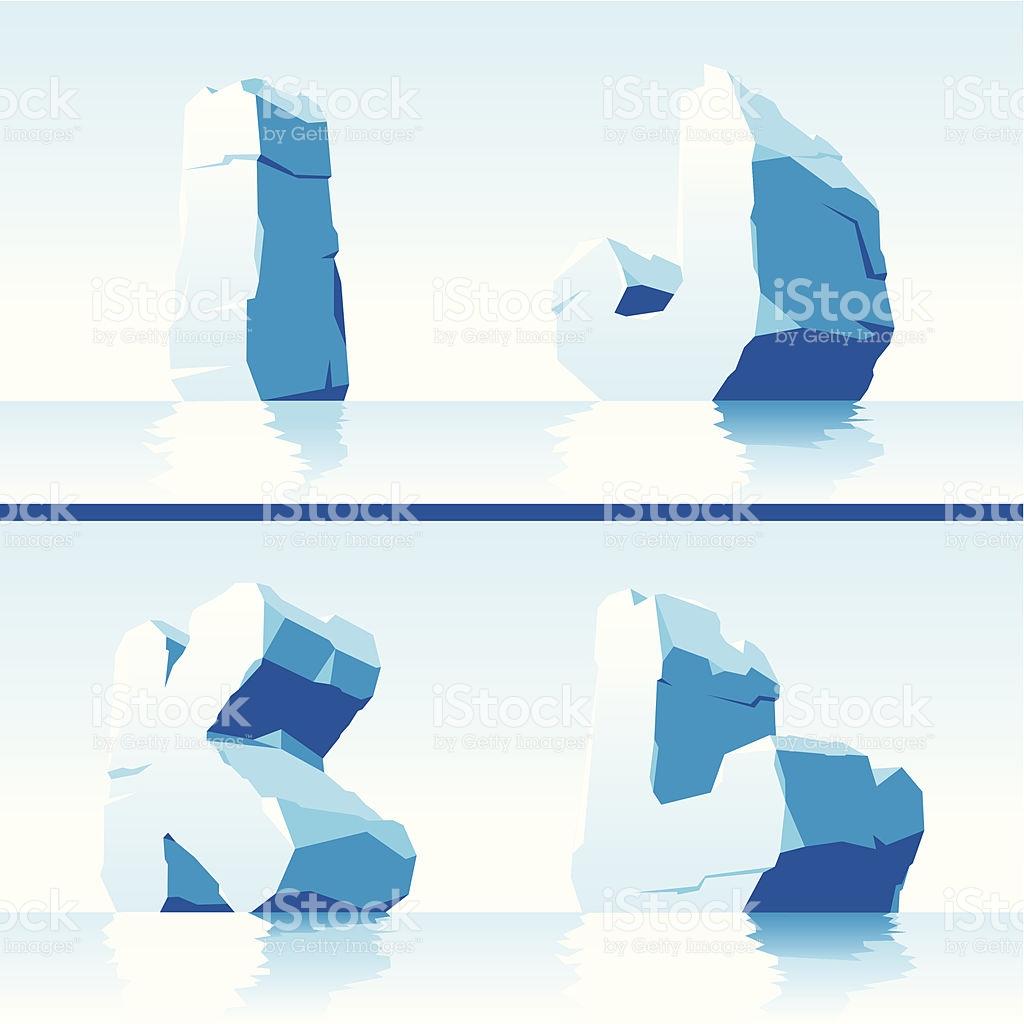 Ice Alphabet Part 3 stock vector art 156946606.