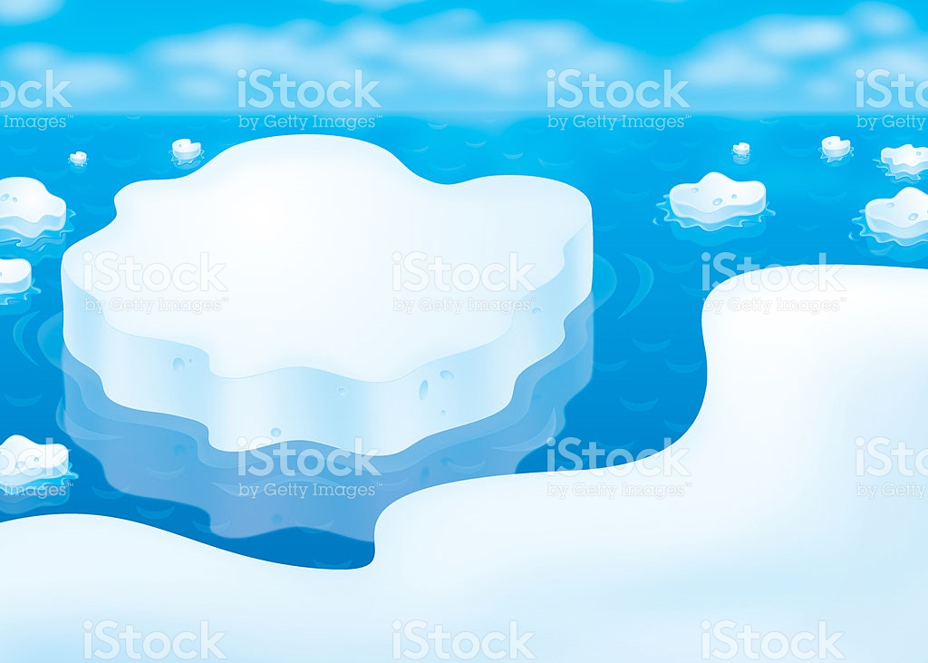 Ice Floes In A Polar Sea stock vector art 134018022.