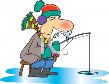 Ice Fisherman Clipart.