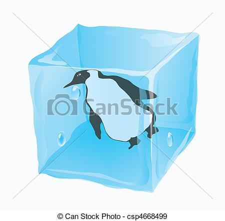 EPS Vectors of penguin is frozen.