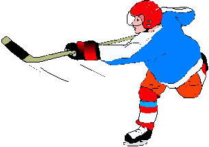 Ice hockey clip art shooter 1.
