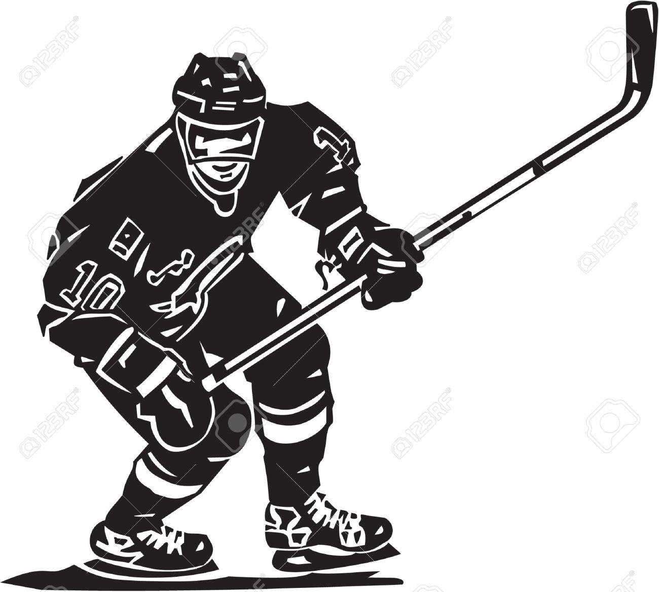 Hockey Player Vinyl Ready.
