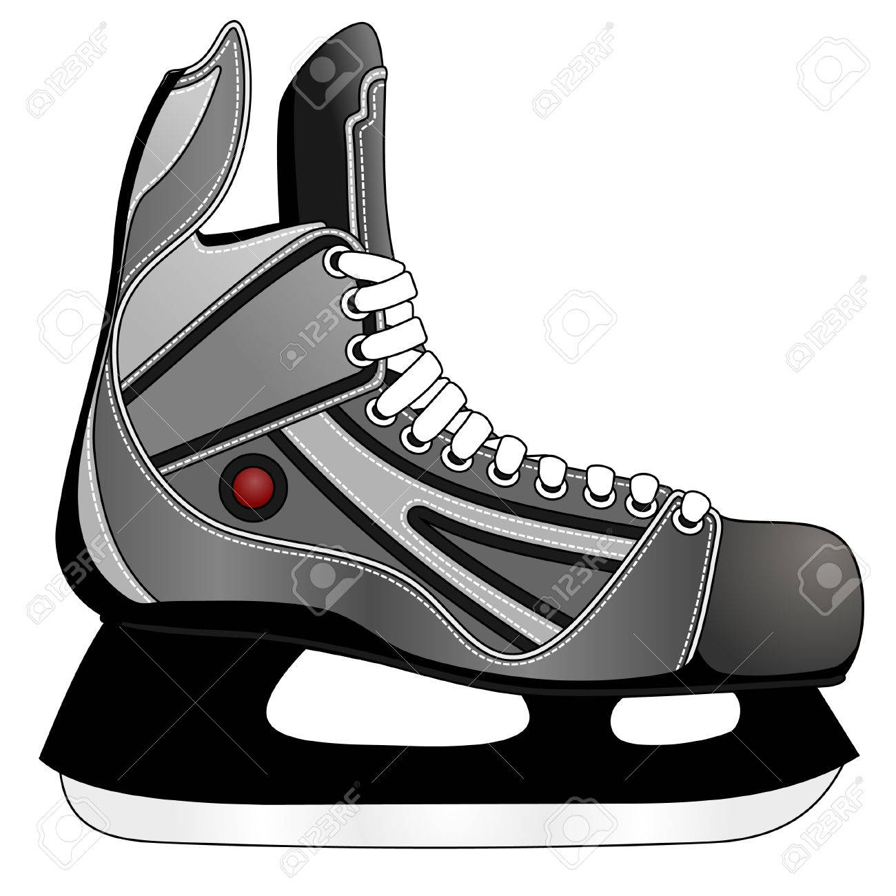 Ice hockey skates.