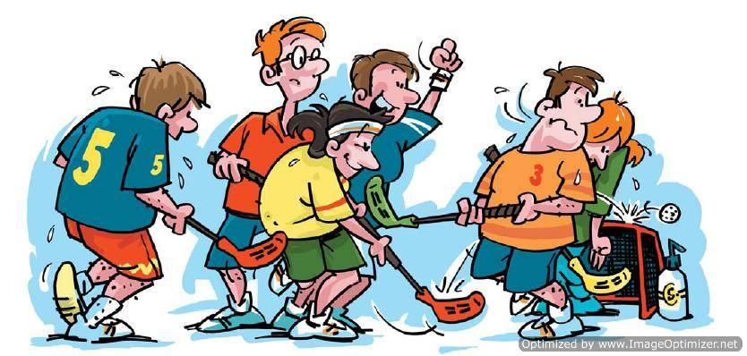 Showing post & media for Cartoon hockey team.