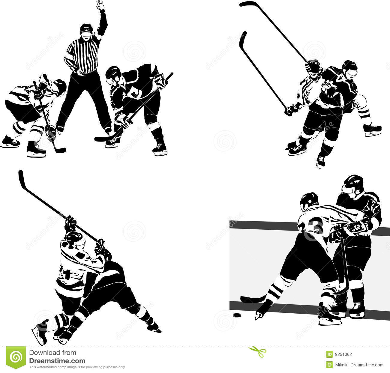 Ice Hockey Team Clipart.