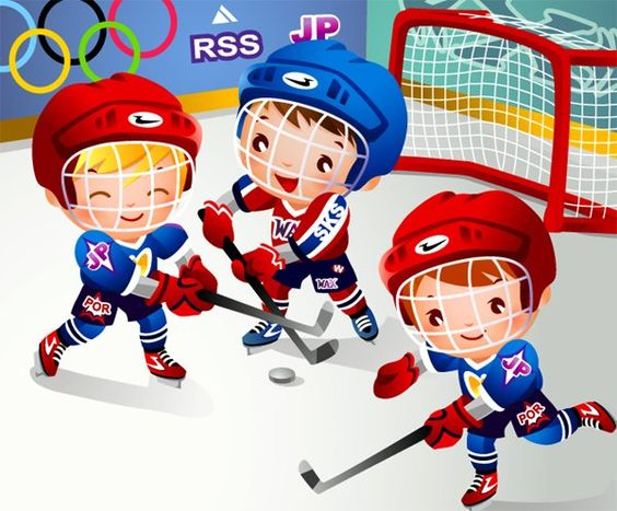 Showing post & media for Cartoon hockey team.