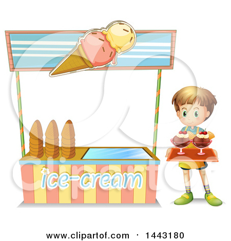 Clipart Vendor Hut With A Shade Awning.