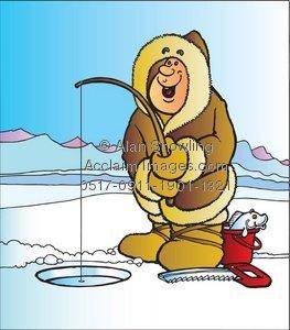 Ice Fishing Hole Clipart.