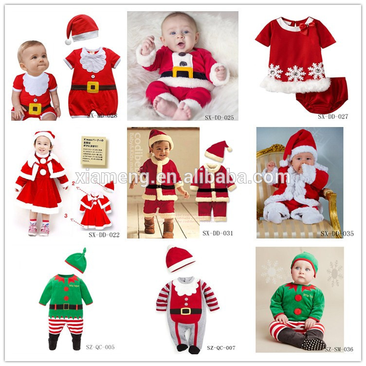 Wholesale Baby Boy Romper Christmas Santa Claus Ice Jam Costume.